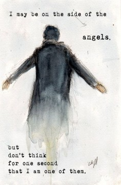 "Etsy : NEW ""Side of the Angels"" BBC Sherlock ""The Fall"" The Reichenbach Fall Art 5x7"" Print Variant : $"