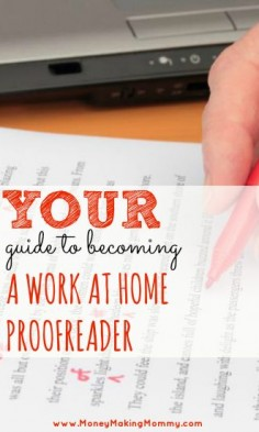 Expert guide to becoming a proofreader and finding work at home proofreading jobs! #workathome #moms #hiring