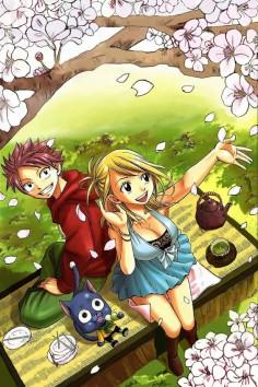 Fairy Tail, natsu, happy, lucy