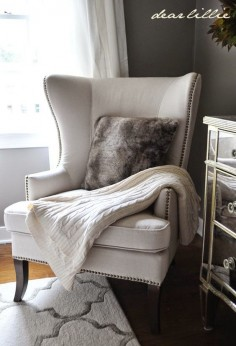 Fall Home Tour via Dear Lillie featuring Cost Plus World Market's Gray Faux Fur Throw Pillow >> #WorldMarket Living Room Decor, Home Decor, Tips