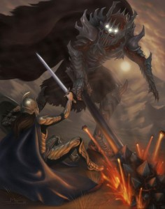 Fingolfin vs Morgoth by mattleese87