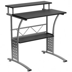 "Flash Furniture Clifton Computer Desk, 33 1/8""H x 27 7/8""W x 23 1/2""D, Black"