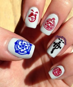 Flight of Whimsy: Full Metal Alchemist mani. Cool, but totally complicated.