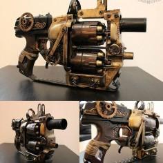 """""""""""Flip Redeemer"""" #steampunktendencies #steampunk #gun #steampunkgun #nerf #diy #awesome #amazing"""""""