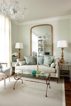 floor to ceiling gilt mirror