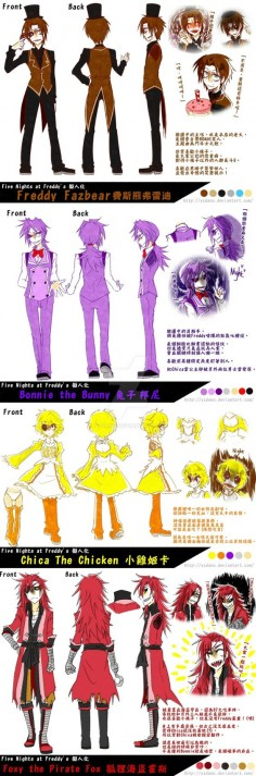 FNaF Humanized Headcanon 20150412 Re upload by yzdano on DeviantArt