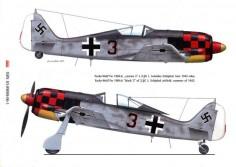 Focke Wulf Fw 190A6  Black 3 Anton Rudolf Piffer Holland Jun 1943 0A