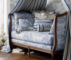 French Toile (blue)