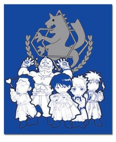 "FULLMETAL ALCHEMIST SD Military Anime Throw Blanket GE NEW 57050 50""x60"""
