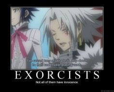 funny d. gray man demotivational | Anime Demotivational Poster