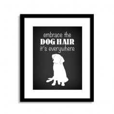 Funny Dog Wall Art Funny Dog Sign Embrace The Dog by ClassicJanes