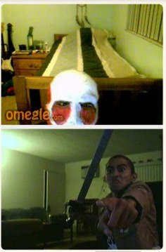 funny omegle screenshot attack on titan. Not even in the fandom, but I appreciate this!