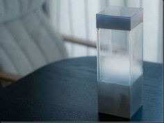Future technology The weather in transparent box