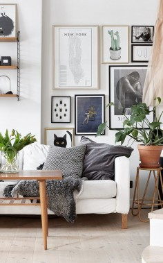 gallery wall + living room