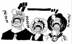 Garp, Luffy y Ace ~ One Piece
