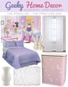 Geek Home Decor: Sailor Moon - Usagi's Bedroom