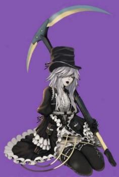 Genderbent undertaker from Black butler