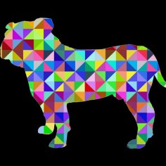 Geometric Bulldog T Shirt By MrKyle Design By Humans