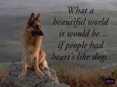 German  a beautiful world it would  people had hearts like dogs