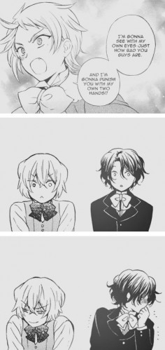 "(gif) ""They found a cute little brother."" 