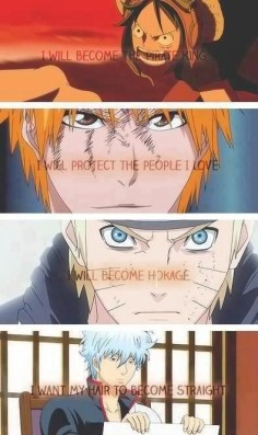 Gintama, Bleach, Naruto, One piece | via Tumblr | We Heart It