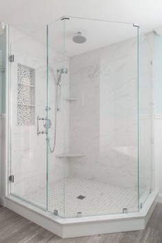 glass corner shower | Supply New England's Kitchen & Bath Gallery