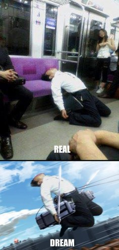 GoBoiano - 17 Times Fans Raised the Bar For Anime Comedy When you're on the train and feel like becoming an anime