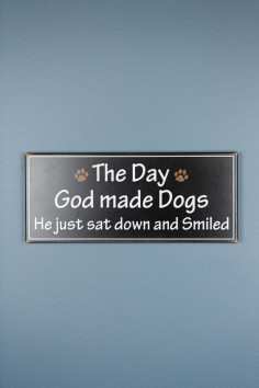 God Made Dogs Wood Decor $