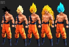 Goku (super saiyan), mars ... on ArtStation at