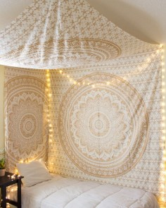 Gold Glimmer Tapestry Fort from The Bohemian Shop -