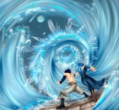 Gray and Juvia's LOVE attack. Chapter 322 by ~Makkona on deviantART