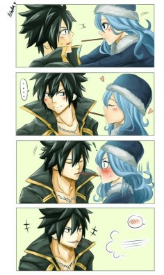 Gruvia   i can totally see this happening