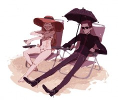 Hades and Persephone at the beach