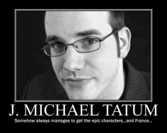 HAHA!!! I love J Michael Tatum :D, He's the voice of France from Hetalia english dub, Kyoya from Ouran High School Host Club or OHSHC for short english dub, and Sebastian Michealis from Kuroshitsuji or Black Butler english dub