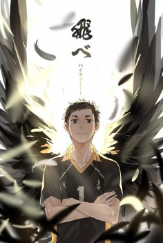 Haikyuu! - Sawamura Daichi is a wing spiker that is really good with receives.