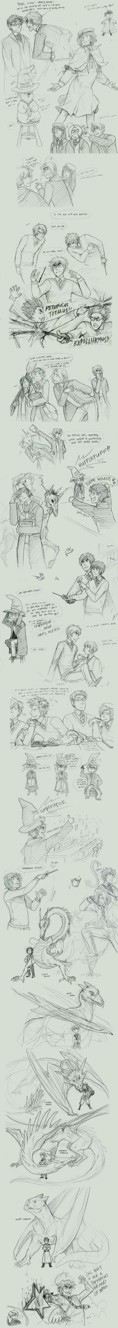 harry potter + the axis powers by ~Blue-Fox THIS IS AWSOME!- I died at Alfred trying to shoot the sorting hat
