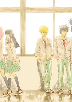 Haruno Sakura, Hyuga Hinata, Uzumaki Naruto and Inuzuka Kiba.