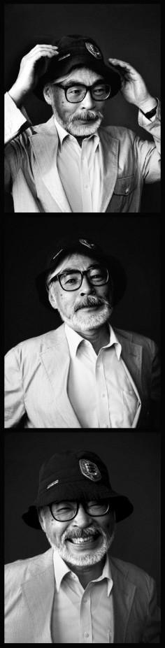 Hayao Miyazaki set, 2005 by Nicolas Guerin. Click on image to see more Miyazaki.