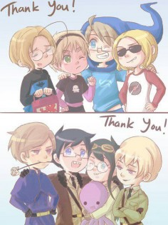 Hetalia and homestuck clothes swap