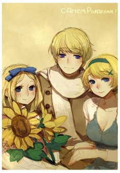 Hetalia, Belarus, Russia, and Ukraine