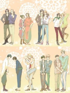 Hetalia Characters with Japanese Voice Actors.