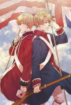 Hetalia- England and America