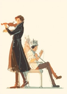 Hey look Sherlock, and Moriarty hangin out like normal  Well normal from Sherlock, and Moriartys point of view I guess