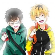 Hide and Kaneki. You may see two friends together but this just makes me cry.