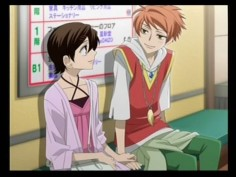 Hikaru and Haruhi from the Ouran DS game