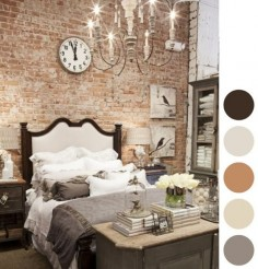 home sweet nest -fake brick wall panelling