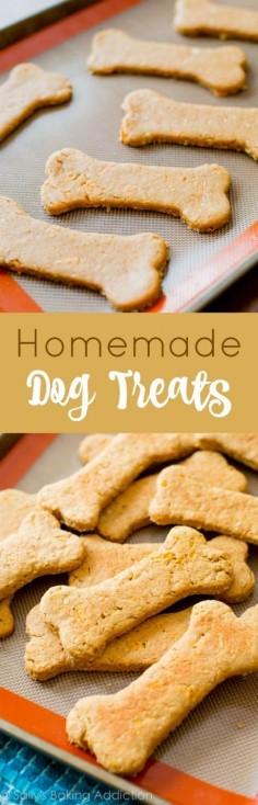 Homemade Soft Peanut Butter Carrot Dog Treats. Because your fluffy friends deserve dessert too!