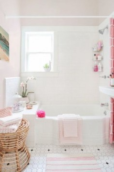 Homepolish Interior Design | For the girly glamazon, buy everything in pink and call it a day. Wicker baskets look good and keep things tidy, and white detailing in accessories make the pink really pop.