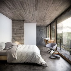 House in Nature by Design Raum the weathered wood on a wall somewhere would be fun!