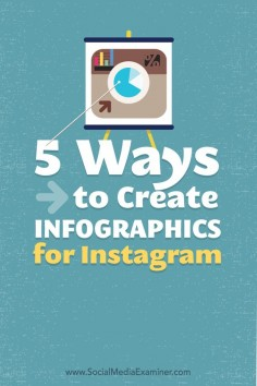 how to create infographics for instagram